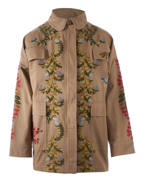 REDVALENTINO - FLORAL EMBROIDERED PARKA