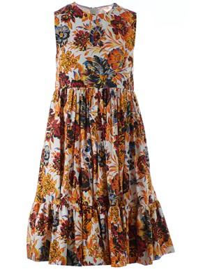 MSGM - ORANGE FLORAL PRINT DRESS