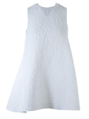 MSGM - WHITE EMBOSSED DRESS