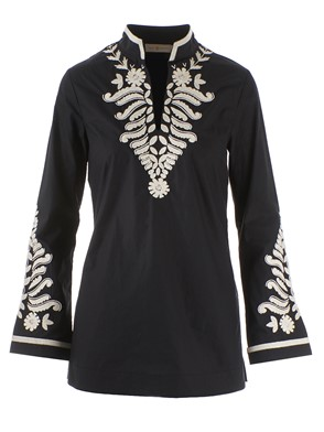 TORY BURCH - EMBROIDERED TORY TUNIC