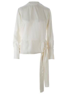 STELLA MC CARTNEY - WHITE STRIPED FRANCES BLOUSE