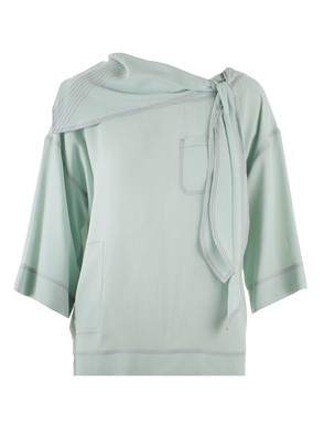 MARNI - LIGHT GREEN FOULARD BLOUSE