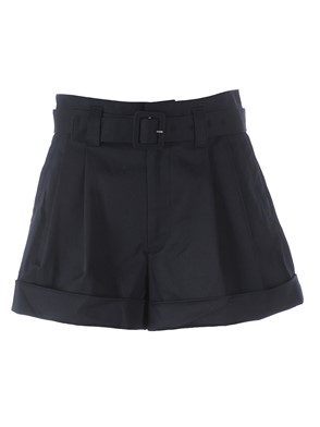 MARC JACOBS - BLACK HIGH-WAIST SHORTS