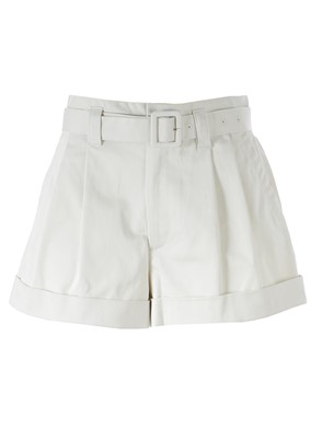 MARC JACOBS - LIGHT GREY HIGH-WAIST SHORTS
