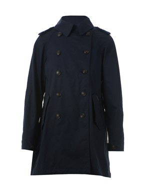 WOOLRICH - BLUE TRENCH COAT