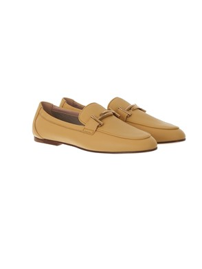 TOD'S - CANARY YELLOW LEATHER LOAFERS