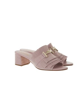 TOD'S - LILAC FRINGED SANDALS