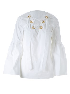 MICHAEL KORS - WHITE LACED BLOUSE