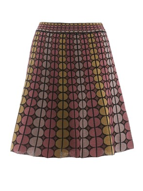 M MISSONI - GONNA MULTICORE NERA E ROSA