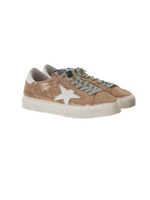 GOLDEN GOOSE - SNEAKER MAY GLITTER ORO