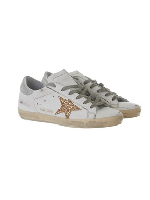 GOLDEN GOOSE - SNEAKER SUPERSTAR GLITTER ORO
