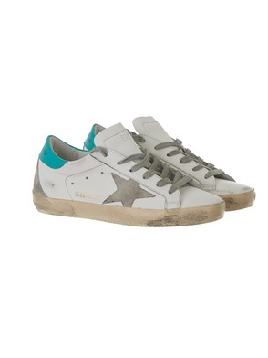 GOLDEN GOOSE - SNEAKER SUPERSTAR VERDE ACQUA