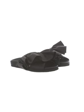 JOSHUA SANDERS - BLACK FRILLED SLIPS