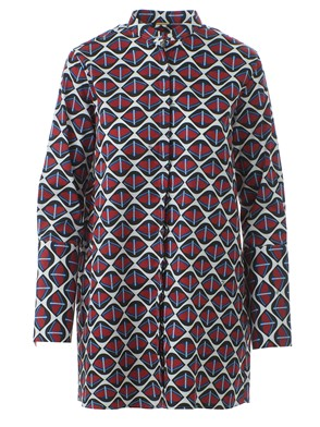 FAY - KOREAN COLLAR PRINTED SHIRT