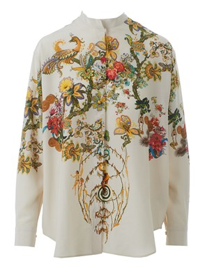 ETRO - KOREAN COLLAR PRINTED SHIRT