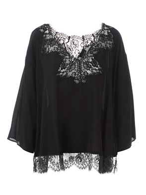 ERMANNO SCERVINO - BLACK LACE BLOUSE