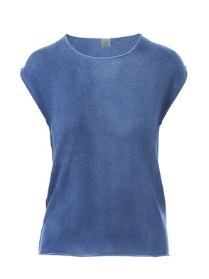 ELEVENTY - LIGHT BLUE SLEEVELESS T-SHIRT
