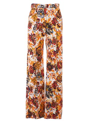 MSGM - ORANGE FLORAL PATTERN PANTS