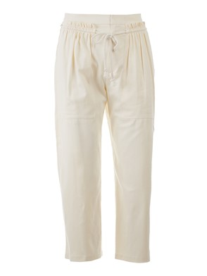 SEE BY CHLOE' - WHITE DENIM CAPRI PANTS