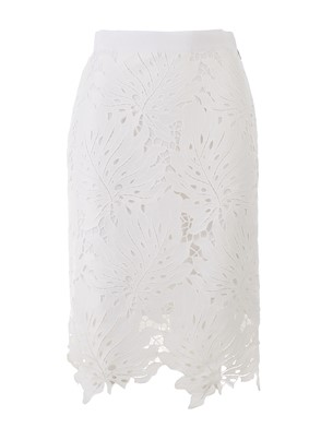 MSGM - WHITE LACE SKIRT