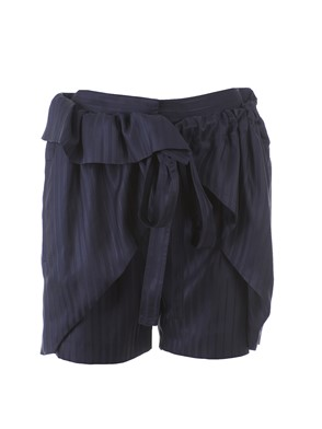 STELLA MC CARTNEY - BLUE PINSTRIPE EIFFEL SHORTS