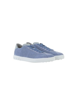 TOD'S - LIGHT BLUE SUEDE SNEAKERS