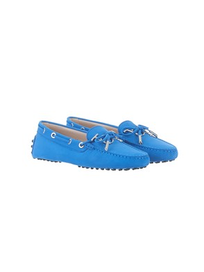 TOD'S - LIGHT BLUE LOGO LOAFERS