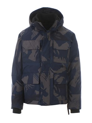 CANADA GOOSE - BLUE AND GREY CAMOUFLAGE MAITLAND PARKA