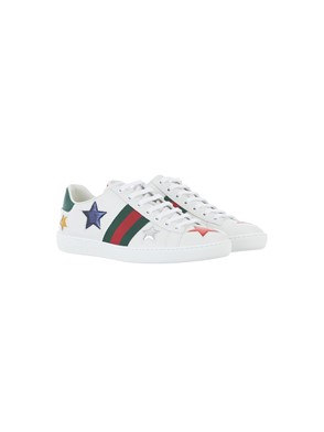 GUCCI - ACE EMBROIDERED SNEAKERS