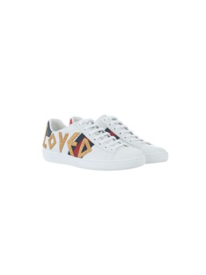GUCCI - EMBROIDERED ACE SNEAKER