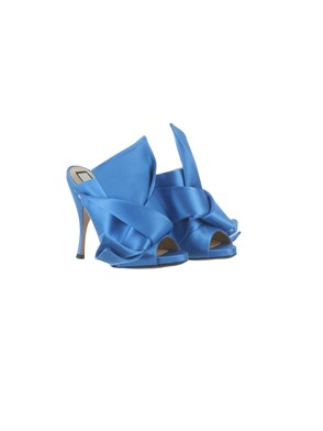 N21 - LIGHT BLUE BOW MULES
