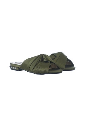 N21 - SLIPPERS CON NODO IN RASO VERDE