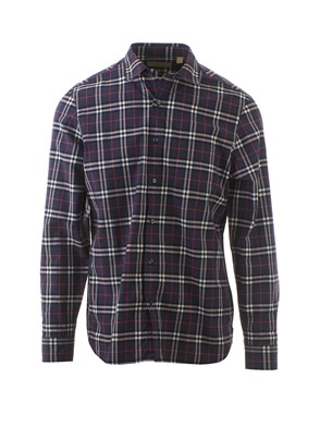 BURBERRY - BLUE TARTAN COTTON SHIRT