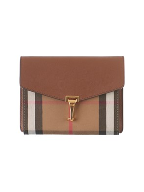 BURBERRY - BROWN HOUSE CHECK PATTERN BAG
