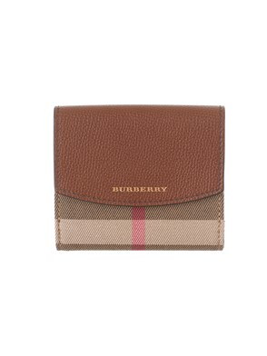 BURBERRY - BROWN HOUSE CHECK PATTERN WALLET