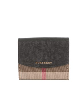 BURBERRY - BLACK HOUSE CHECK PATTERN WALLET