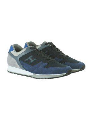 HOGAN - GREY AND BLUE H321 SNEAKERS