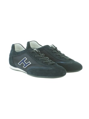 HOGAN - BLUE AND SILVER OLYMPIA SNEAKERS