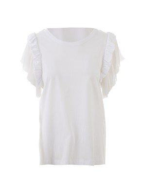N21 - WHITE RUCHED T-SHIRT
