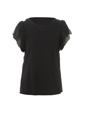 N21 - BLACK RUCHED T-SHIRT