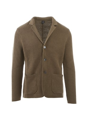 ELEVENTY - BROWN COTTON JACKET