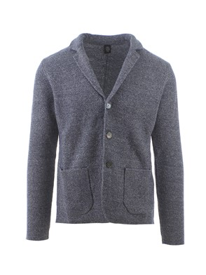 ELEVENTY - BLUE-GREY COTTON JACKET