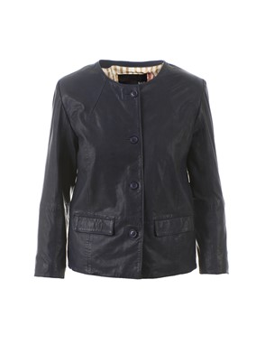 BULLY - NAVY BLUE LEATHER JACKET