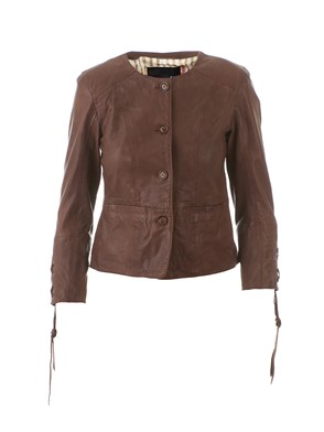 BULLY - BROWN LEATHER JACKET