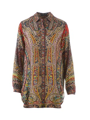 ETRO - ORANGE PAISLEY SHIRT