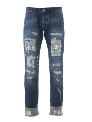 PHILIPP PLEIN - RIPPED JEANS