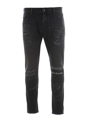 MARCELO BURLON COUNTY OF MILAN - GOTHIC ANIFIT JEANS