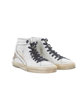 GOLDEN GOOSE - WHITE HGH-TOP SNEAKERS