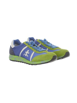 PREMIATA - BLUE AND GREEN LUCY SNEAKERS