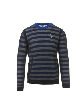 KENZO - BLACK AND BLUE MESH SWEATER